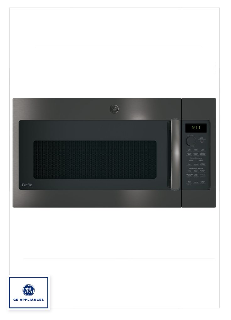 Our Ge Profile Series 1 7 Cu Ft Convection Over The Range Microwave Oven Is With Images Black Stainless Steel Appliances Black Stainless Appliances Black Stainless Steel