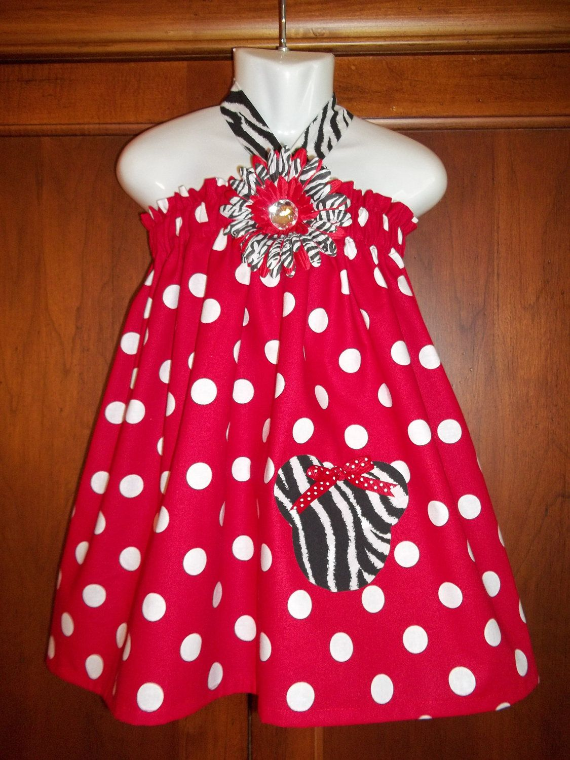 Minnie Mouse dress disney outfit girls HALTER by GinaBellas1, $29.50
