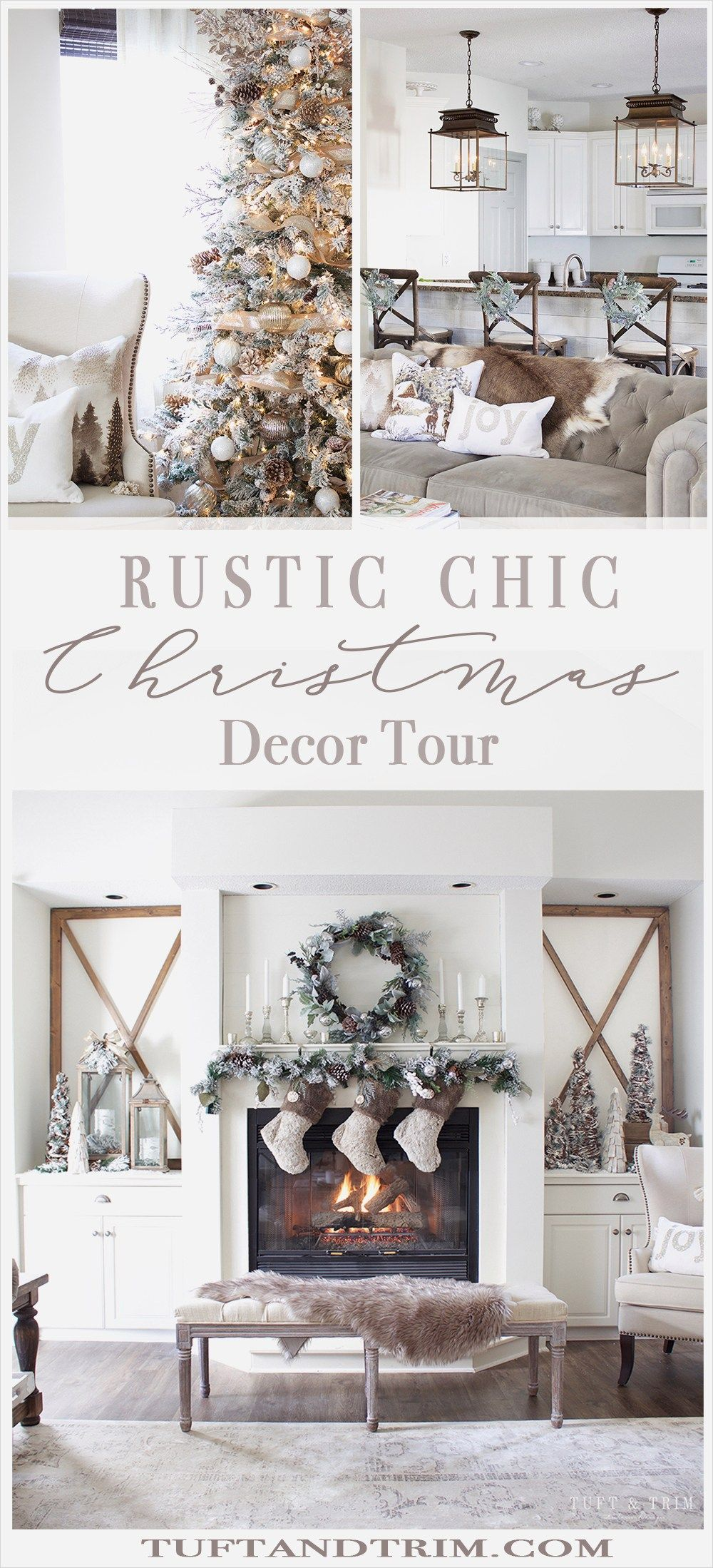 42 Beautiful Rustic Chic Christmas Decoration Ideas