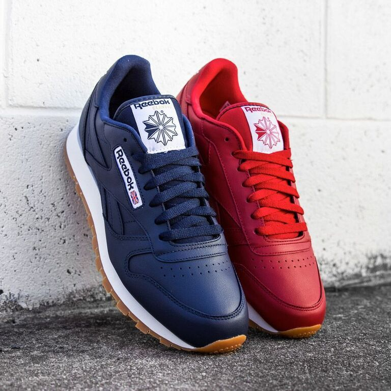 Reebok Classic Leather Scarlet Gum Reebok Classic Leather Black Red Adidas Shoes Reebok Sneakers