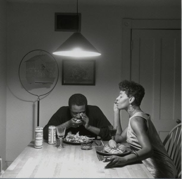 Carrie Mae Weems Kitchen Table Series Untitled playing harmonica from the kitchen table series 1990 untitled playing harmonica from the kitchen table series 1990 1999 carrie mae weems american born in 1953 workwithnaturefo