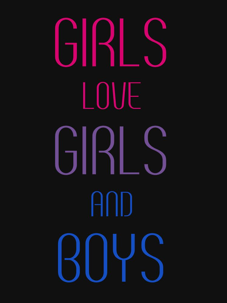Girls Love Girls and Boys Fitted Scoop T-Shirt