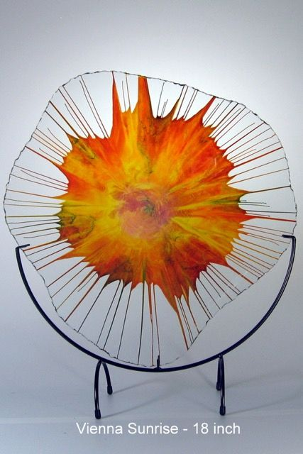 Vienna Sunrise 18 Inch Nergywebs Are A Unique Artform Combining Color And Motion Glass Artist Dennis Debon Transfor With Images Glass Art Melting Glass Glass Artists