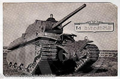 T1 TANK 60 TON US ARMY SUPER TANK VINTAGE WWII MILITARY VEHICLE PHOTO PRINT