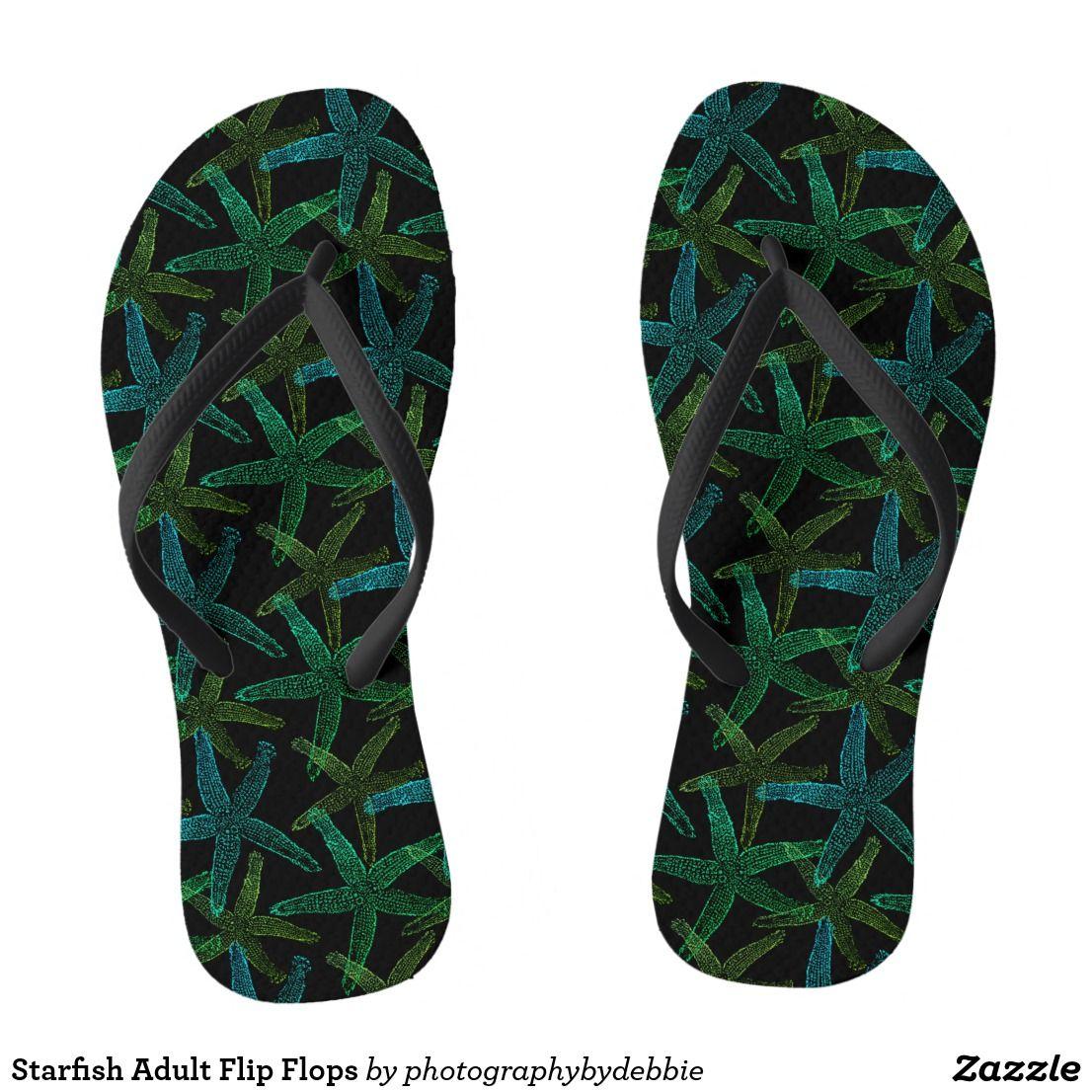 Starfish Adult Flip Flops Zazzle Men s Flip Flops