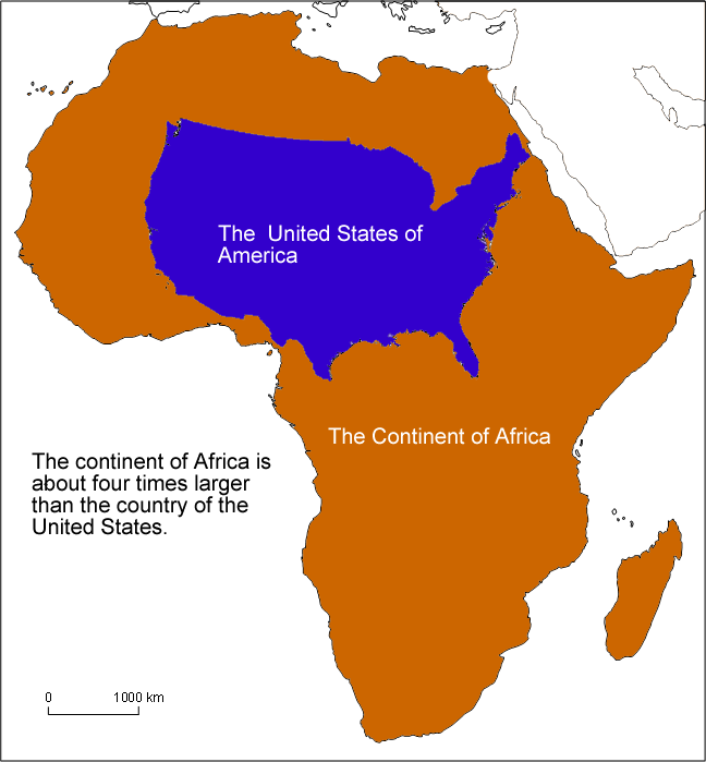 africa usa size comparison a world to explore world geography continents countries. Black Bedroom Furniture Sets. Home Design Ideas