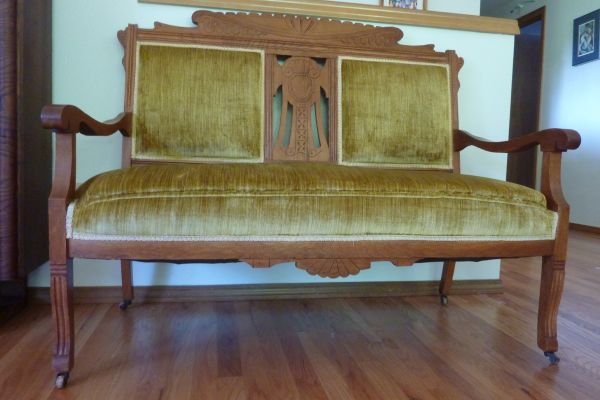 Portland Antique Eastlake Settee Loveseat Original Upholstery Portland Listings Pinterest