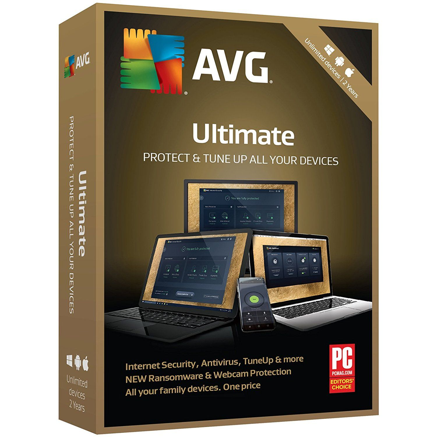 Avg Technologies Ultimate 2018 Unlimited Devices 2 Years Key Card To View Further For Computer Protection Internet Security Antivirus Software