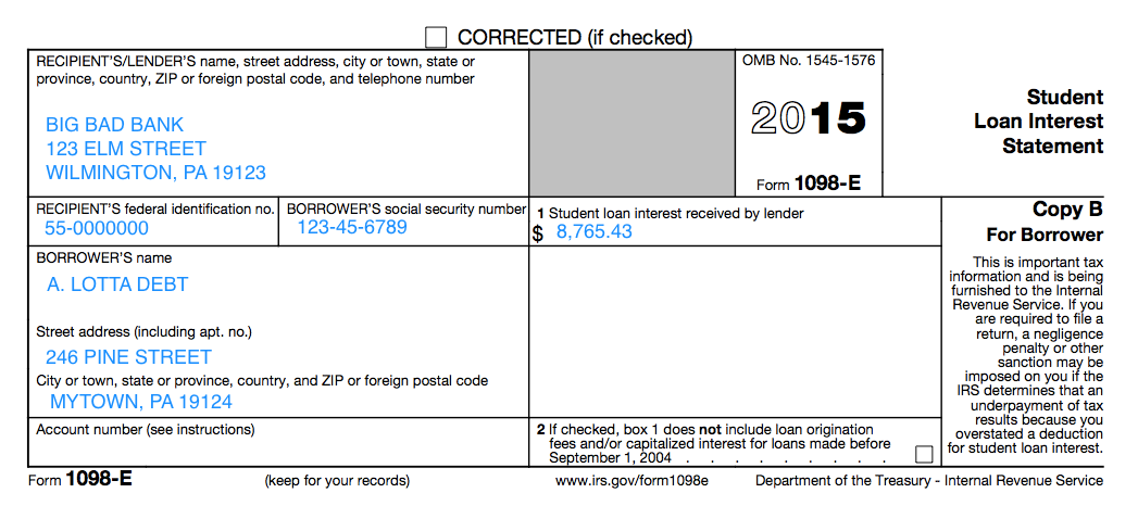 Understanding Your Forms E Student Loan Interest Statement