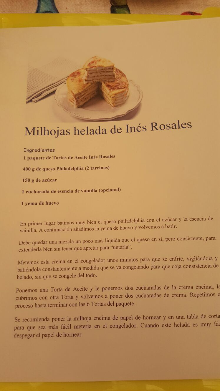 Milhojas De Ines Rosales Milhojas Comida Yemas De Huevo