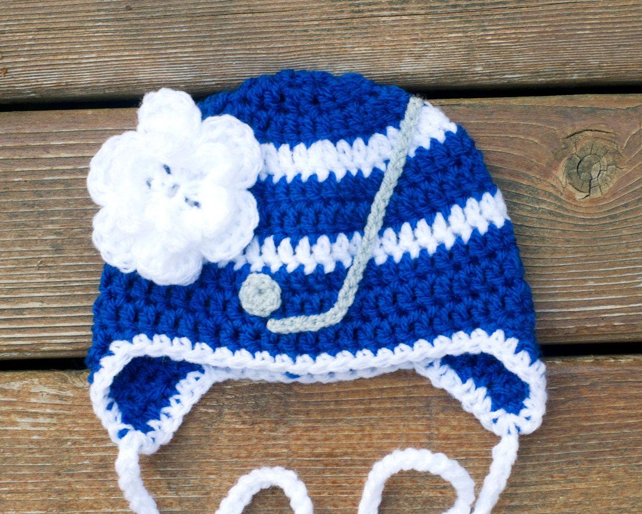 Baby girl hockey hat httpsetsyme2hgevet mapleleafs