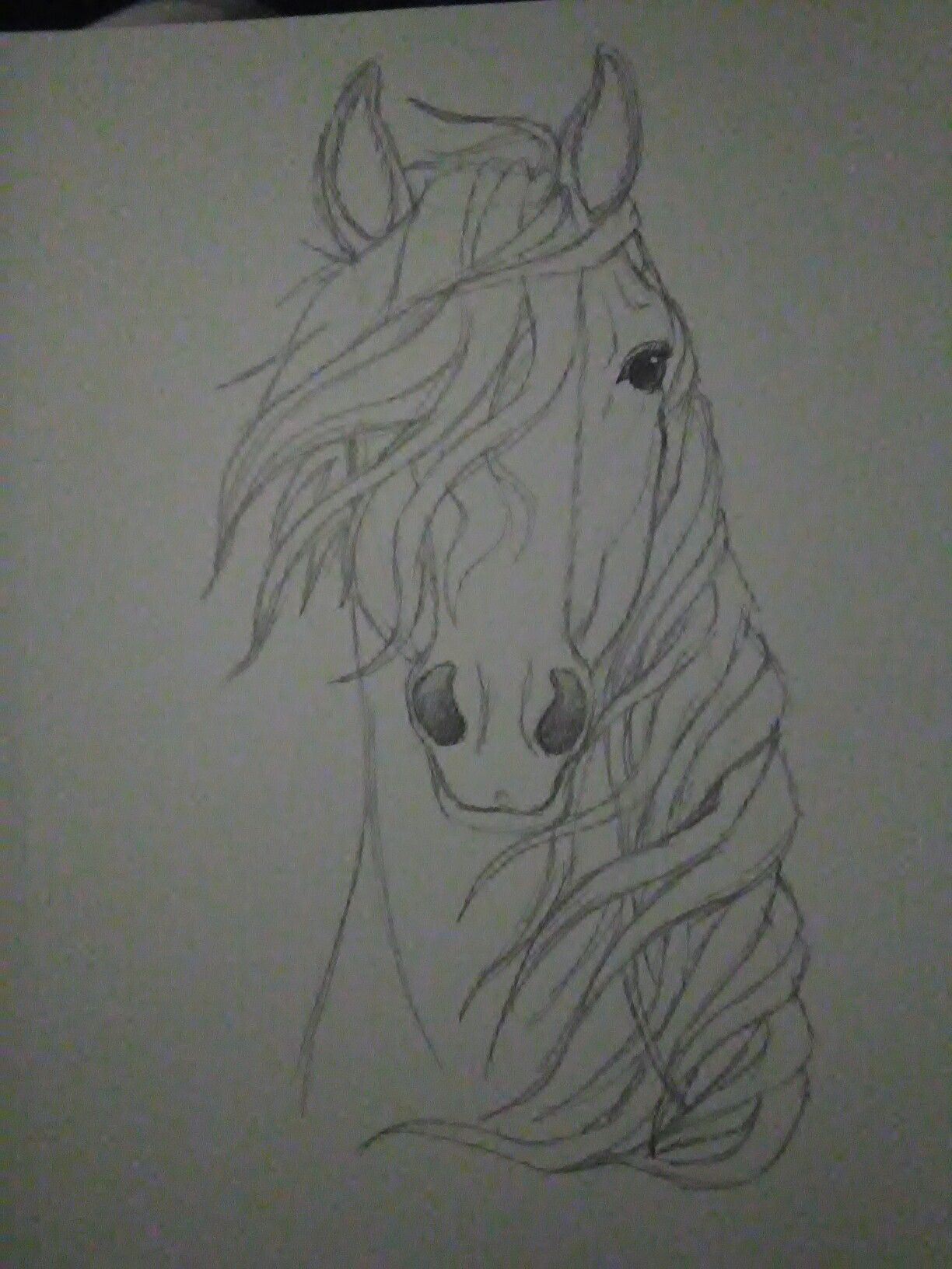 Spirit of the wind kaboomz horse pencildrawing - Comment dessiner spirit ...