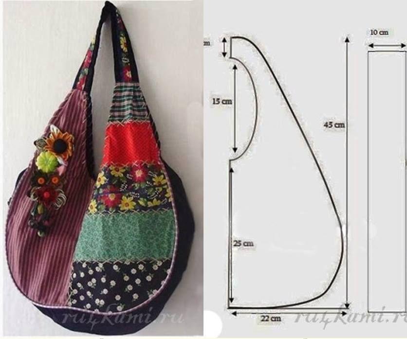Bolsa De Praia Em Tecido Passo A Passo : Molde de bolsa colorida personalizada para utilizar nos