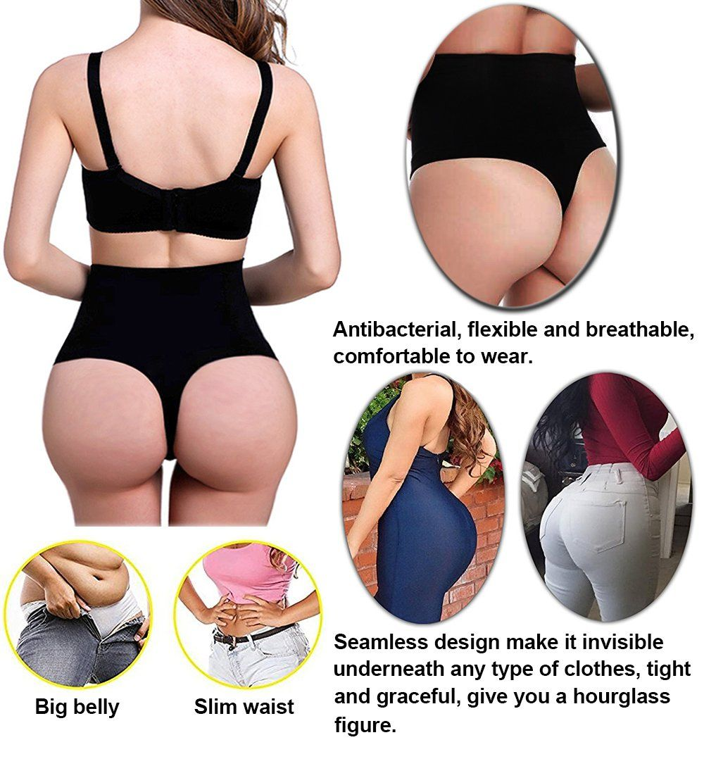 b887a13599892 Jenbou Waist Cincher Girdle Tummy Control Panties Trainer Sexy Thong Body  Shaper Slimming Shapewear for Women   For more information