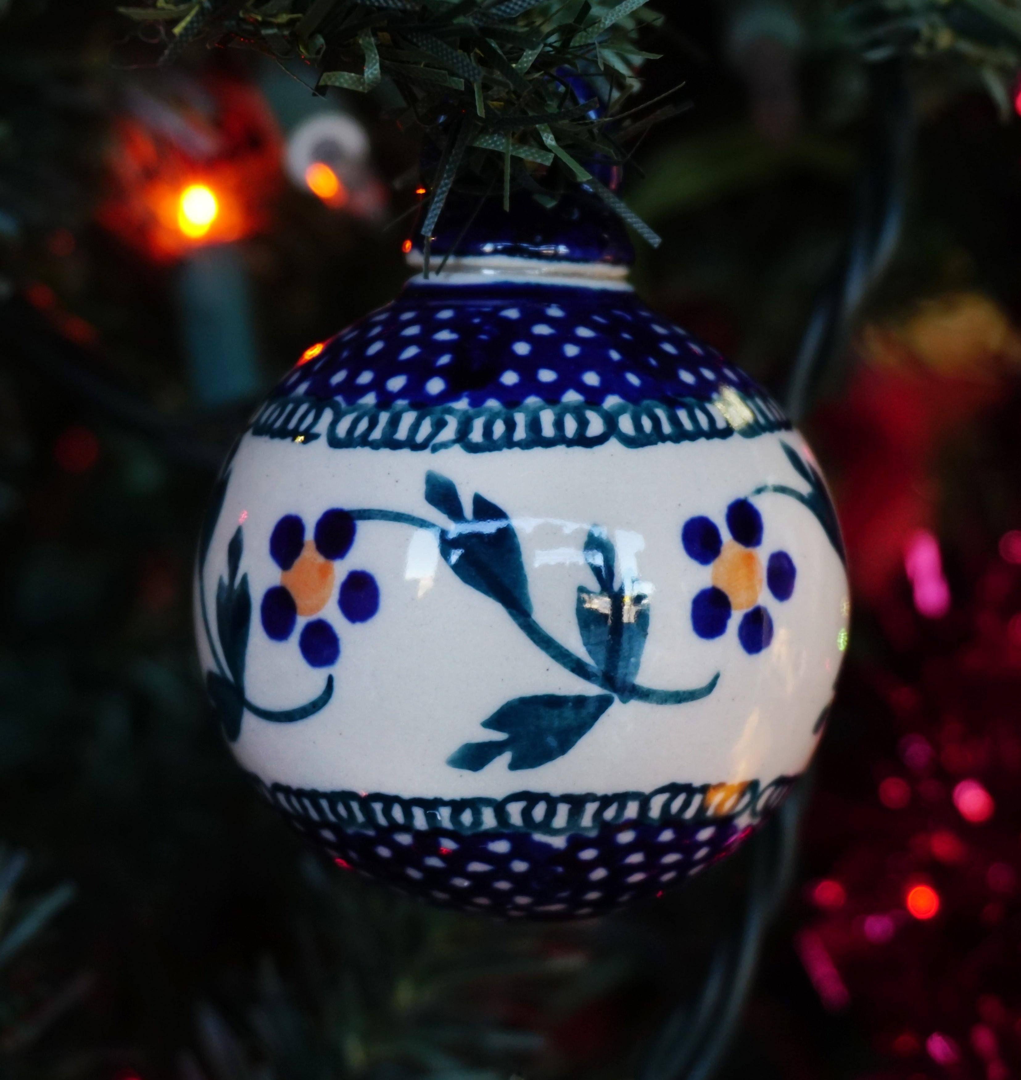 2 Ornament Ball (Morning Glory)