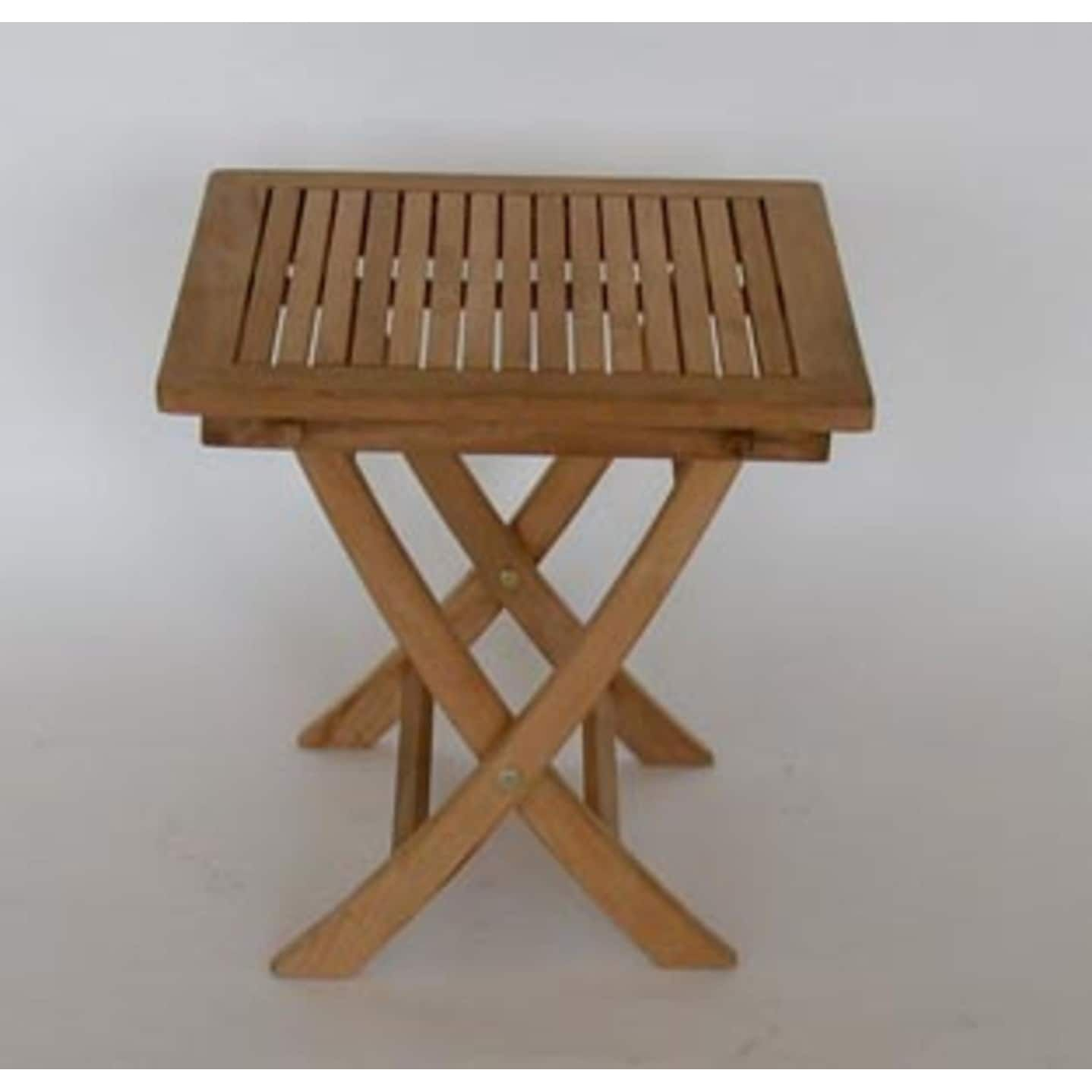 natural teak wooden square outdoor patio folding dining end