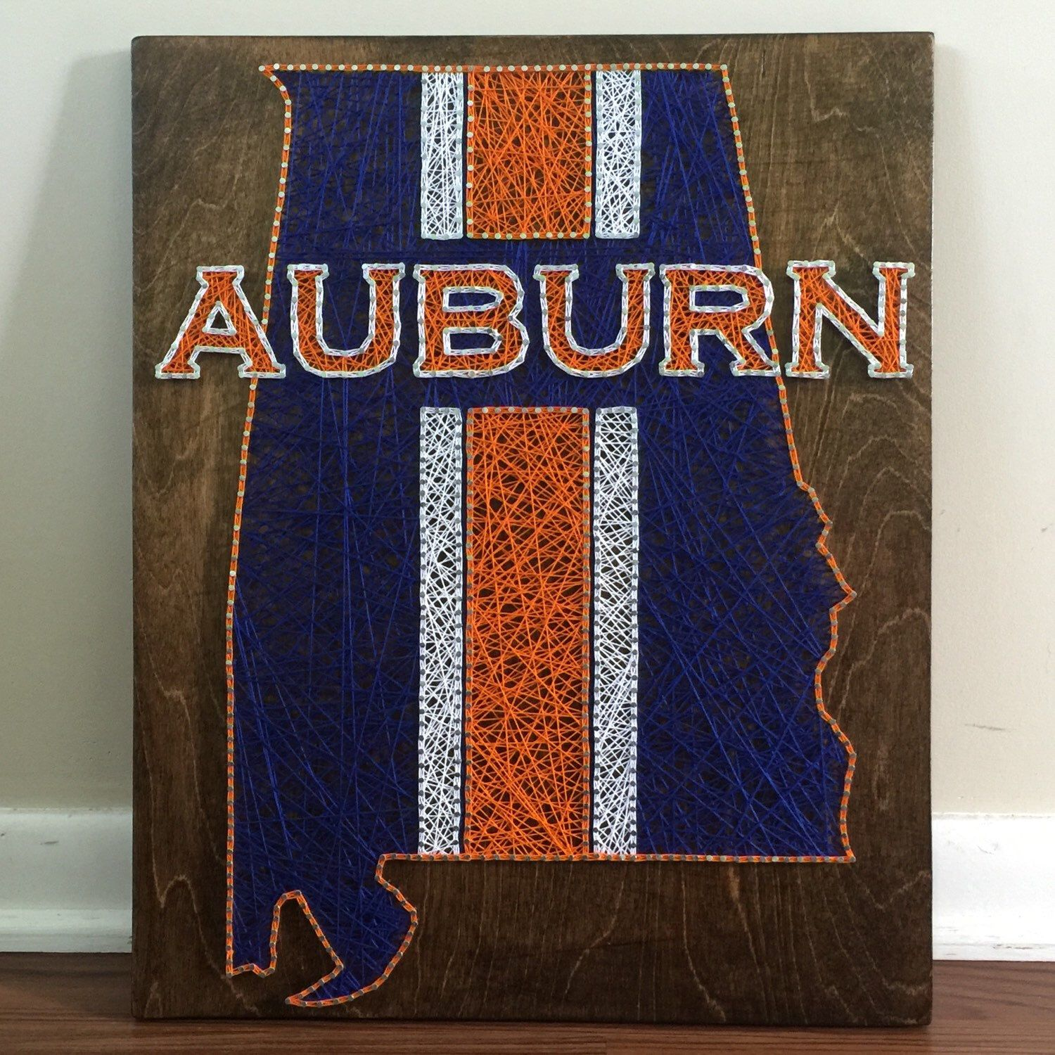 Auburn Tigers Auburn Football College Football String Crafts Diy Crafts Pallet Art Wood Art Art Ideas Tiger Girl