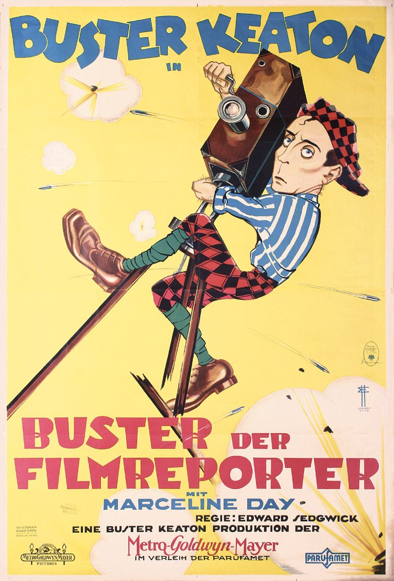 Buster Keaton  Vintage Movie Advertising  Poster reproduction The Cameraman