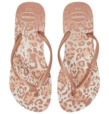 891a7d2f65e7  slim animal print  flip flop by Havaianas. Fun animal print spices up the  buttery-soft footbed on a classic flip-flop with slim pearlized straps.