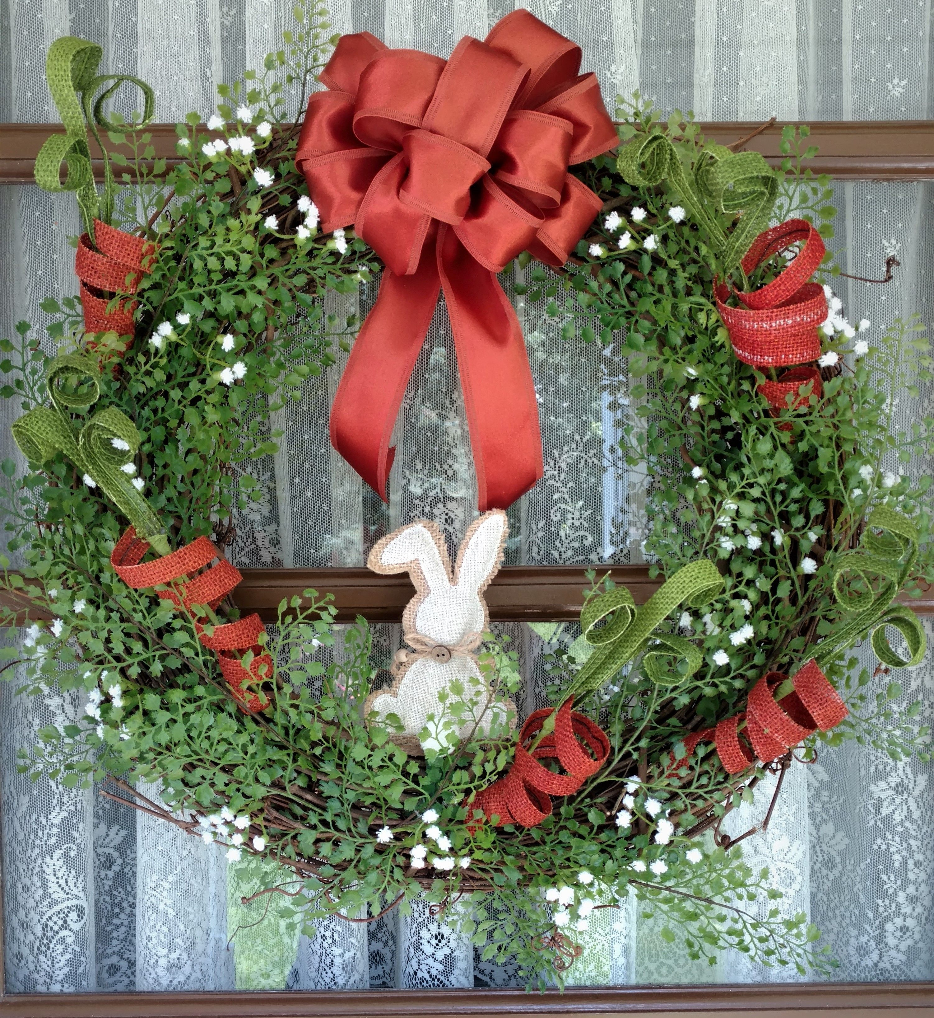 Spring wreath Easter wreath holiday wreath 18 inch grapevine