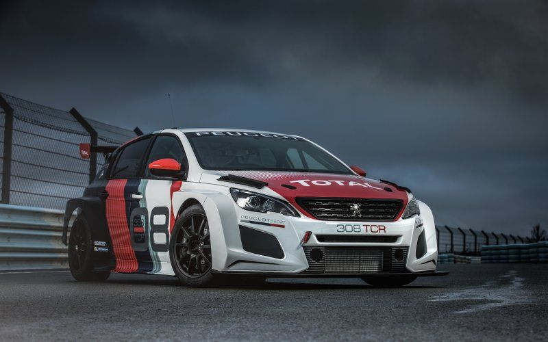Peugeot 308 Tcr Racing Car 2018 Car Front Peugeot Coches De