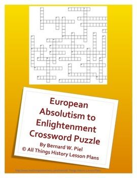 This Crossword Puzzle Covers Absolutism To Enlightenment As Either