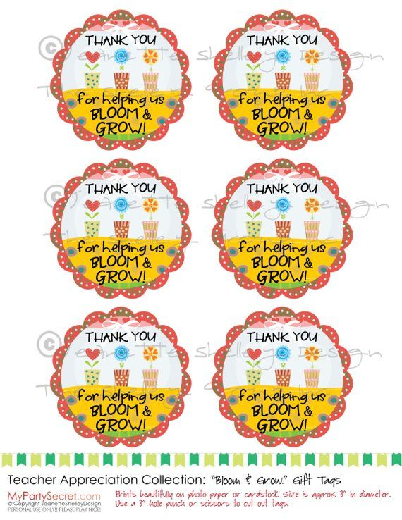 Instant Download 3 Printable Teacher Appreciation Thank You For