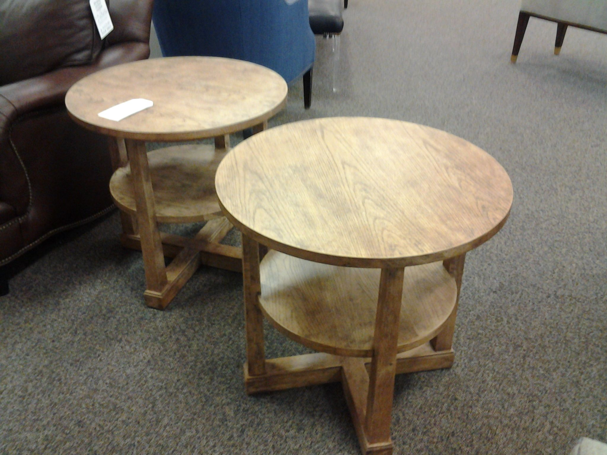 Pair of chair side tables by Century Furniture