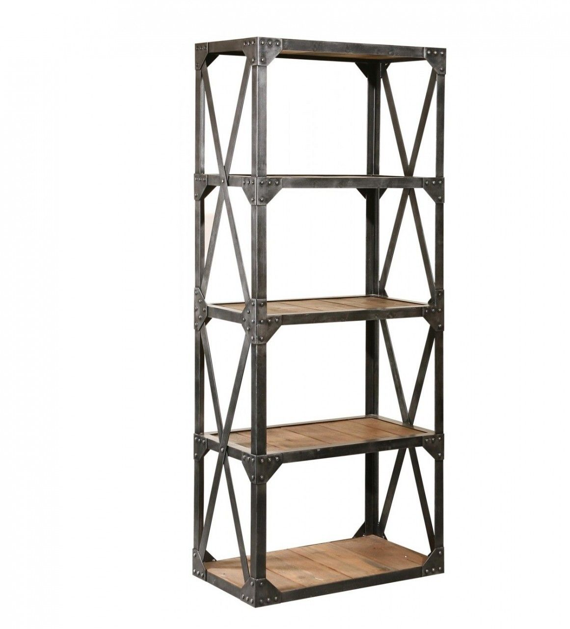 Lovely Iron and Wood Shelving