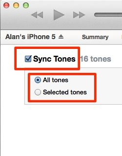 sync tones to iphone
