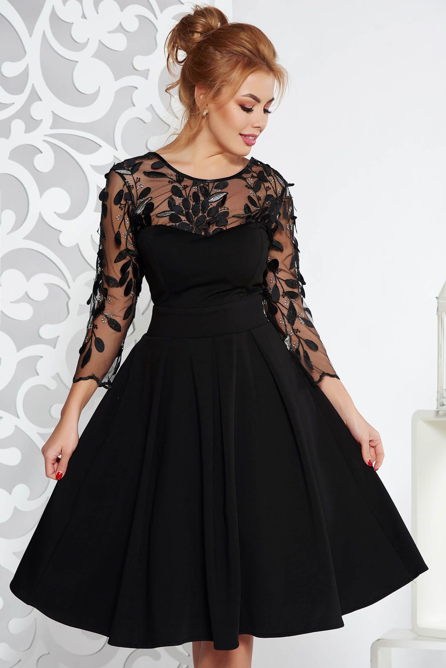Fekete Artista alkalmi harang ruha enyhén elasztikus szövet belső béléssel  szivacsos mellrésszel. Látványos 14d3969bd1