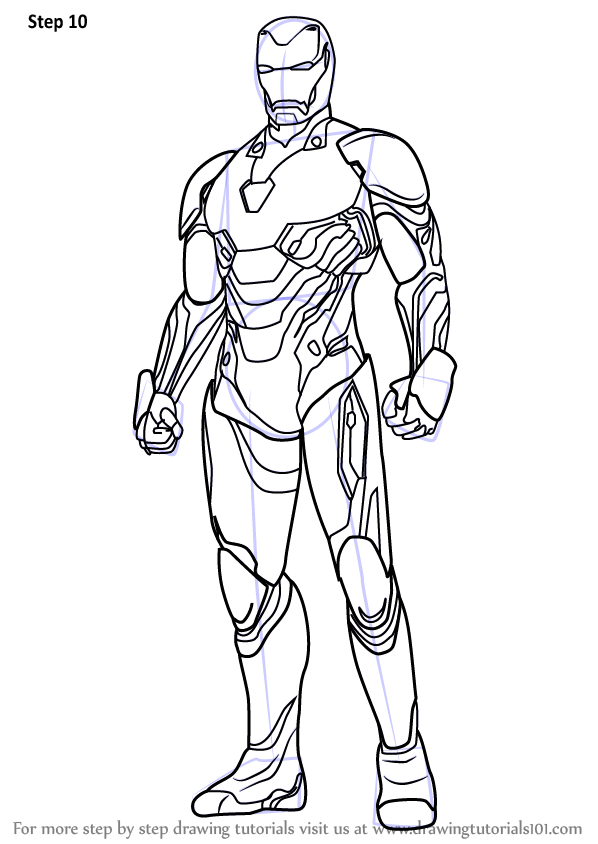 Avengers Infinity War Iron Man Coloring Pages Endgame ...