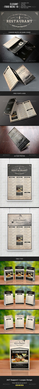 elegant food menu 10 food menu menu and elegant