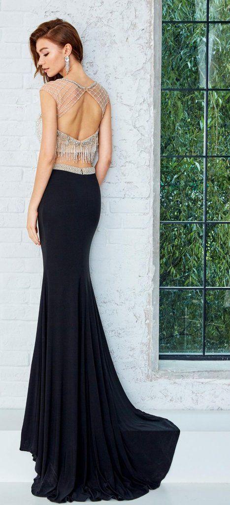 Angela and Alison Prom Dress #771077 Black 2 piece size 6   Prom ...
