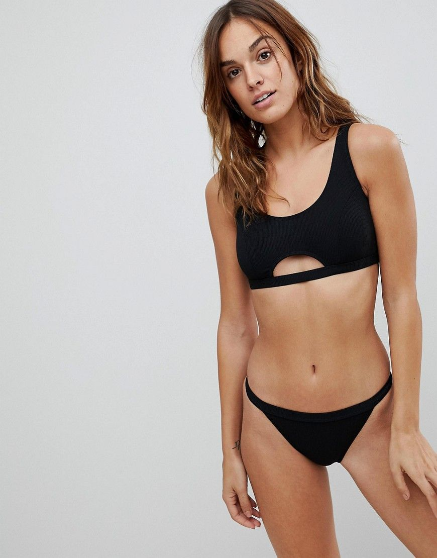24d7160927 Missguided Ribbed Cut Out Detail Bikini Top in 2019 | Products ...