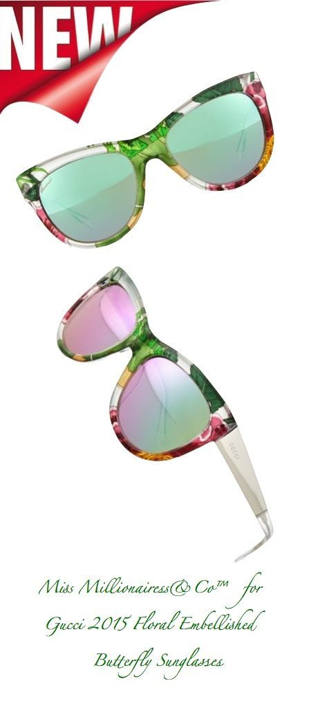 f31c8baad9708 Gucci {Floral Embellished Butterfly} | Accesssories+Vintage | Gucci ...