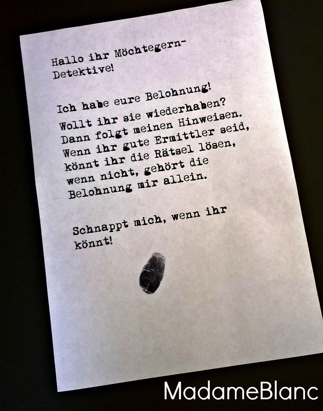 Detektivparty kindergeburtstag detektivspiel basteln pinte - Ideen zur geburtstagsfeier ...