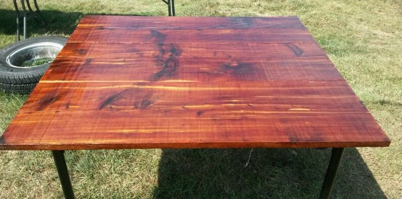 Top View Of Red Cedar Kitchen Table Coffee Table Table Pallet