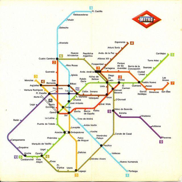 Plano Metro De Madrid Mapa.Plano De La Red Del Metro De Madrid 1981 Mapa Del Metro