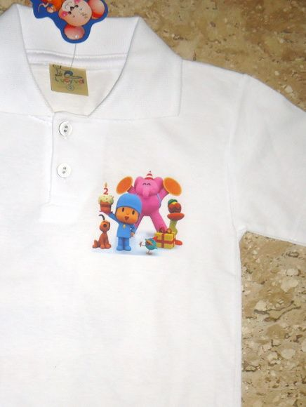 Camisa Polo Pocoyo  6e55874ec55