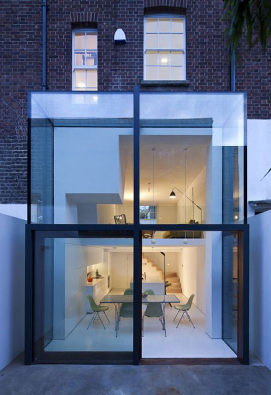 Great Modern Extension Design That Will Look Great On The Back Of Traditional Victorian Houses Around Londo Architectuur Huis Huis Buitenkant Design Renovaties