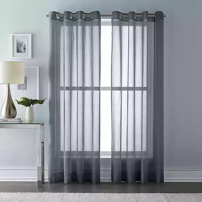 Wamsutta® Grommet Top Sheer Window Curtain Panel Panel