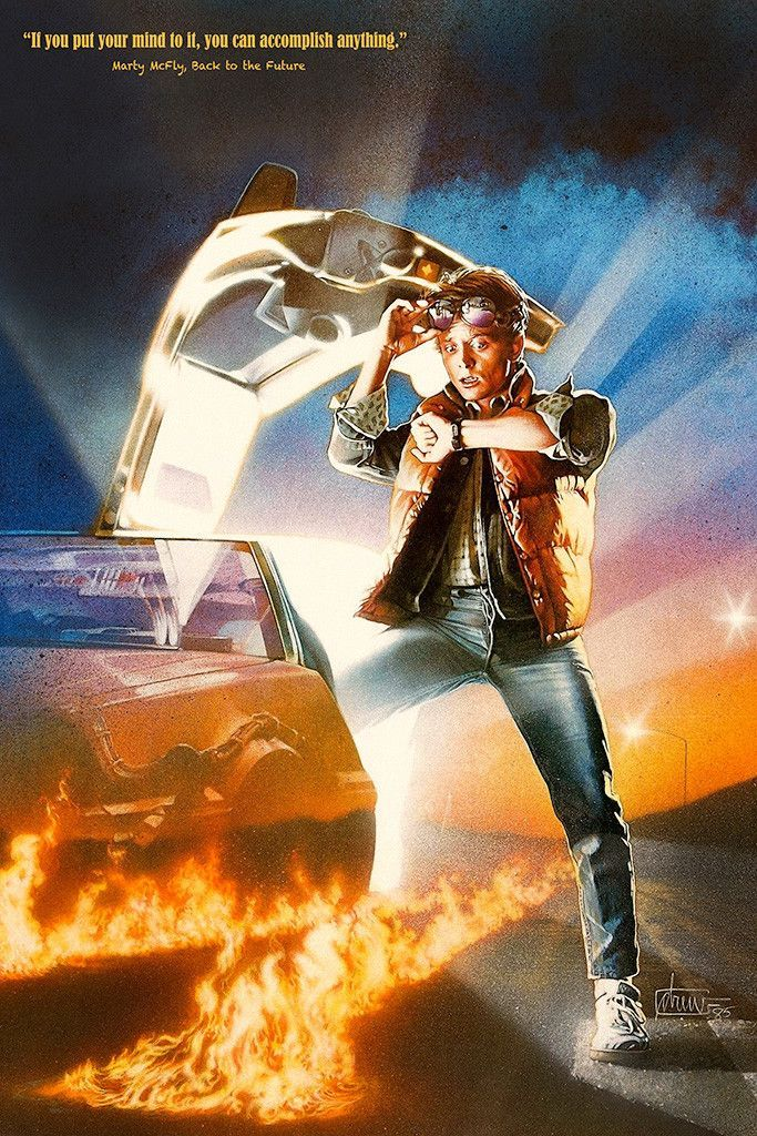 Back To The Future Quotes Delorean Dmc 12 Classic Movie Poster