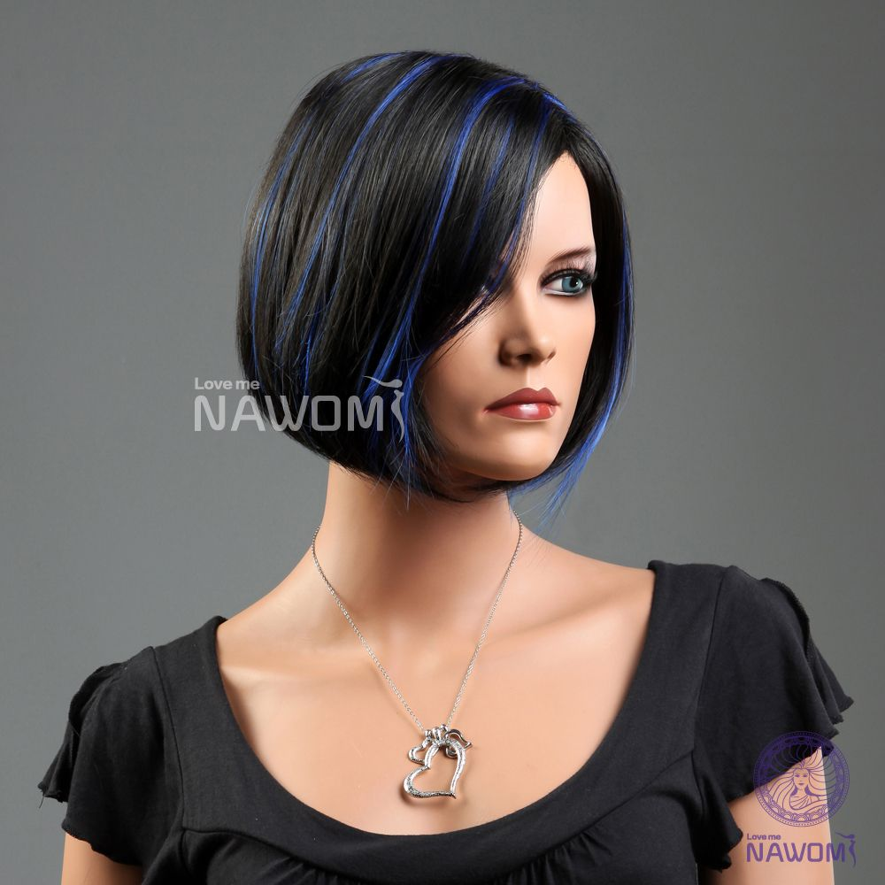 Dark Hair With Blue Highlights Google Search Hair And Makeup