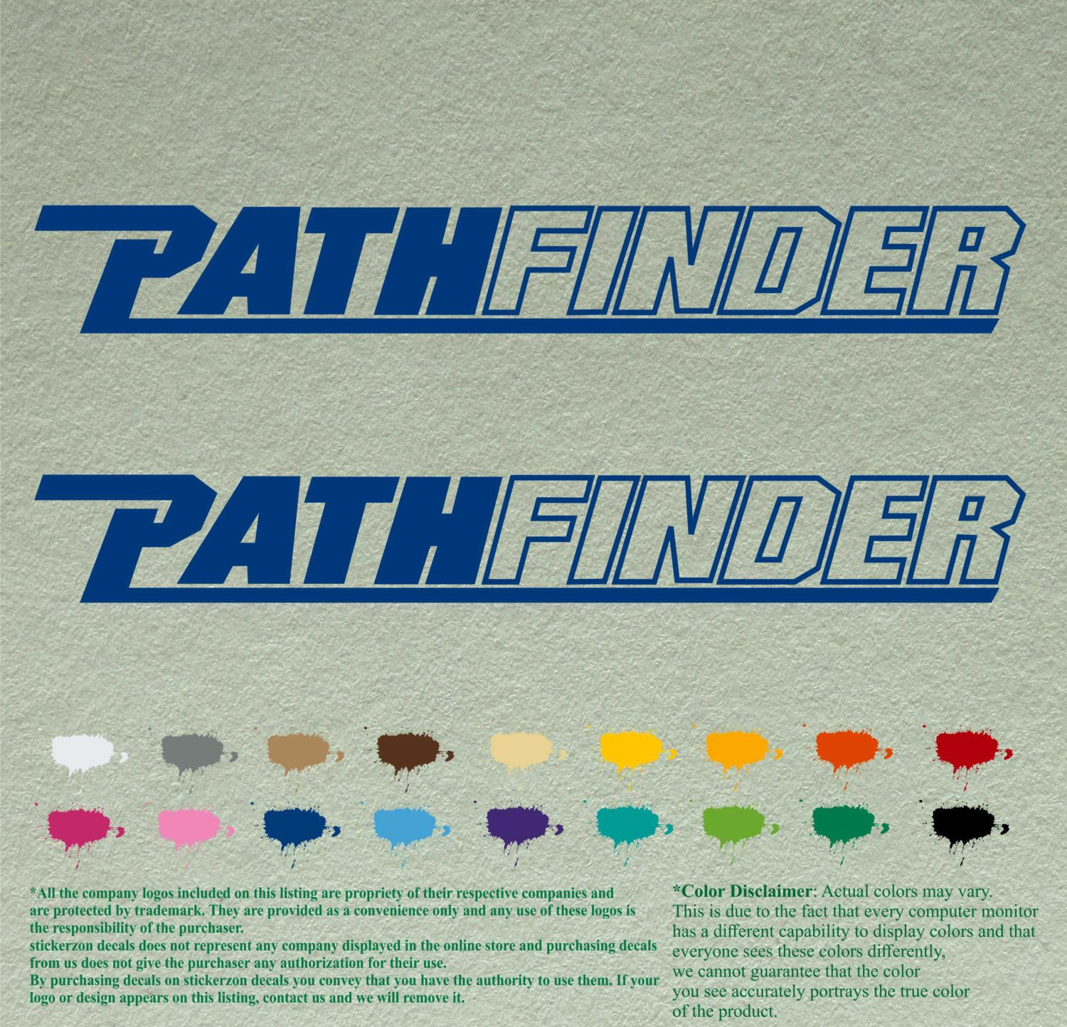 Pair Pathfinder Decals Vinyl Stickers Boat Outboard Motor Lot Of - Boat stickers and decals
