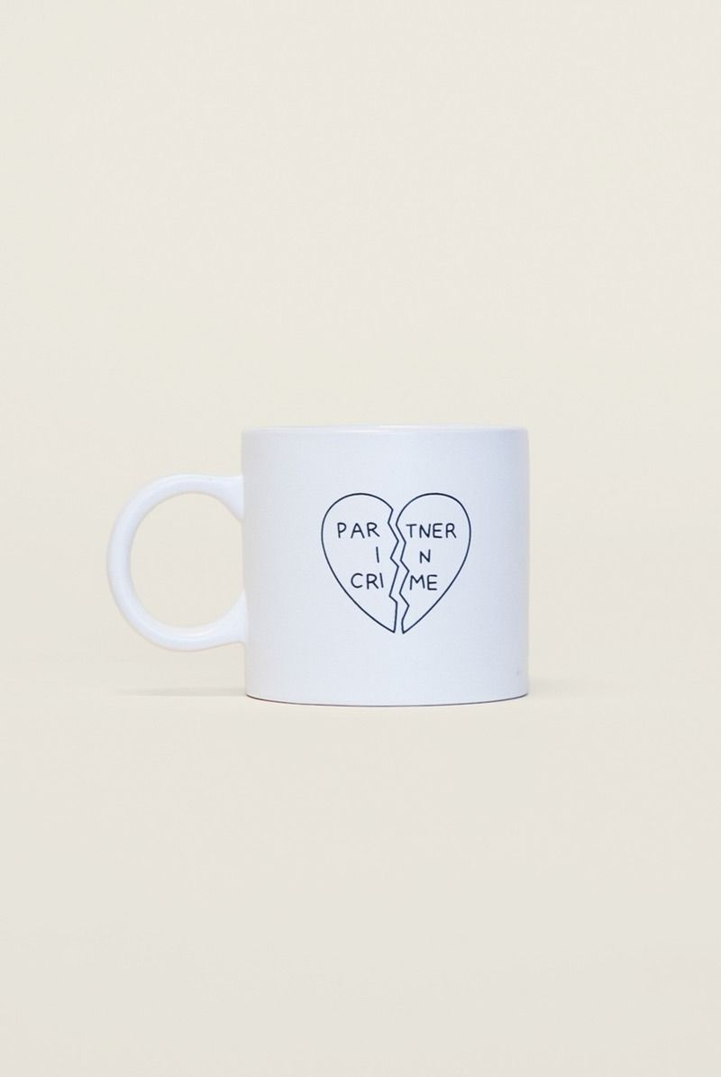 Love this partner in crime coffee mug for your BFF + you to share.