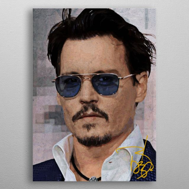 'Johnny Deep' Metal Poster Print - Capung Studio | Displate