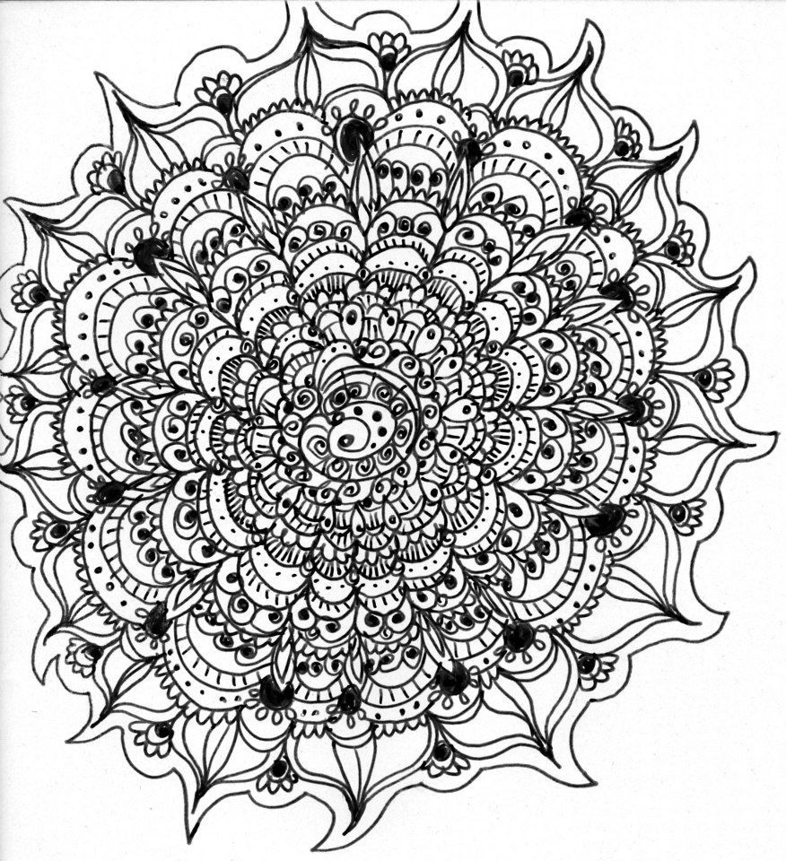 Complicated Coloring Pages Difficult Mandala Coloring Pages