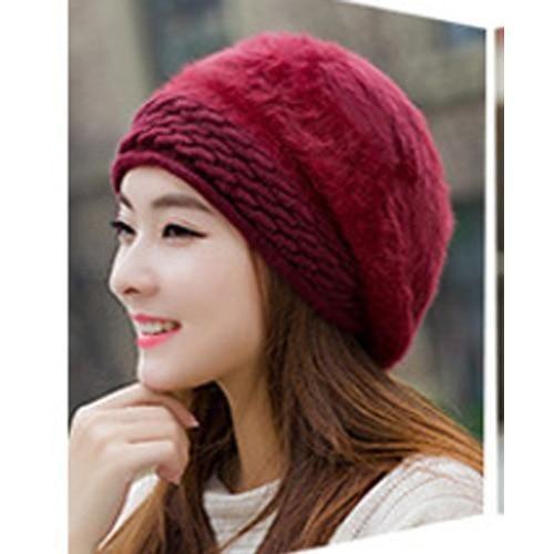 Beanies Women s Winter Hats For Women Knitted Girls Bonnet Caps Winter Lady  Hats Brand Wool Fur Beanie Flower Skullies Hat 2017 72f69a2f6175