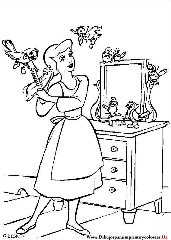 Dibujos De La Cenicienta Para Imprimir Y Colorear Princess Coloring Pages Cinderella Coloring Pages Disney Princess Coloring Pages